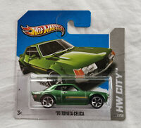 2013 Hot Wheels HW City #1 1970 Toyota Celica Green New **Short Card**