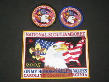 2005 National Jamboree Jacket Patch and 2 different Pocket Patches        c7