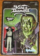 "KING DIAMOND 3.75"" ReAction Action Figure MERCYFUL FATE Super7 Glow In Dark Doll"