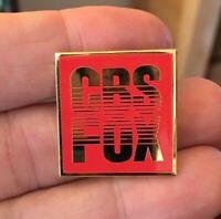 CBS FOX VHS logo enamel pin retro 70s 80s film movie tape hat lapel bag fun gift