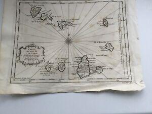 Rare Antique Cape Verde Map c.1746