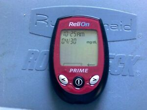 relion prime blood glucose meter / monitor only red