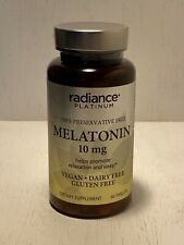 Radiance Platinum Melatonin 10 mg Relaxation & Sleep 60 Tablets Exp 02/2021