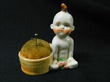 DARLING Vintage Porcelain KEWPIE DOLL PIN CUSHION Japan Pin Keep