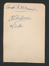 1930's HENRY COTTON Vintage Golf Autograph Sheet (plus three others)