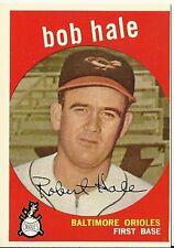 1959 Topps 507 Bob Hale Orioles EX+ Great Color & Gloss Sharp Focus Set Break