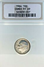 1964 ROOSEVELT DIME GRADED PF 69 CAMEO BY NGC