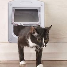 Cat Doors for Interior Cat and small Dog Up to 15lb,4-Way Lock-Free Shipping