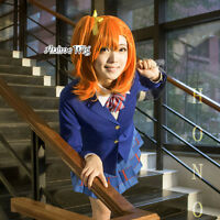Love Live! Kousaka Honoka 48CM Orange Short Anime Cosplay Hair Wig With Ponytail