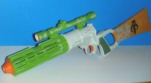Star Wars Boba Fett 2009 Mandalorian Blaster w/ Lights & Sounds- Tested Working!