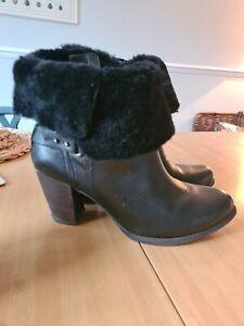 UGG Heeled Boots Black Size 10.5 UK (12 US 43 EU)