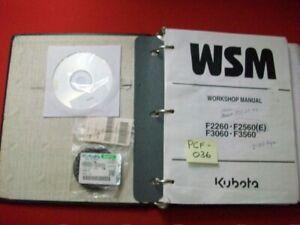 KUBOTA FRONT MOUNT MOWER F2260 F2560(E) F3060 F3560 FACTORY WORKSHOP MANUAL VGC