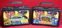 (2) 1993 Mighty Morphin Power Rangers Storage Box Lot - Stamp-A-Poster
