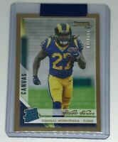 Darrell Henderson Rams 2019 Donruss Rated Rookie Canvas Studio Series Gold /100