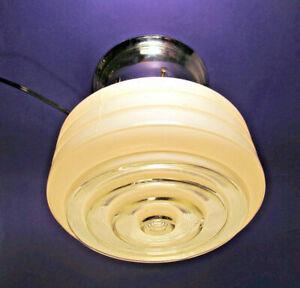Vintage Deco Ceiling Farm Kitchen Circular Light Fixture Retro Mid Century