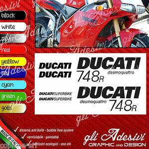 Series Adhesives Stickers Compatible DUCATI 748 R Superbike