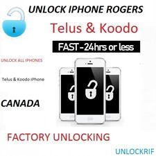 UNLOCK Telus & Koodo Canada iPhone All Models Clean
