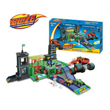 Fun Blaze and the Monster Figures Racer Car Parking Playground Set Kids Toy Gift