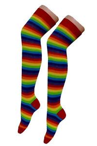 Women' Over The Knee Socks Plain & Stripe Thigh High Adults Stretchy Argyle Sock