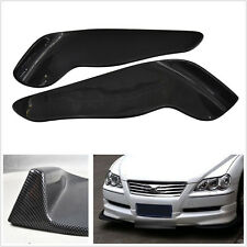 2Pcs Carbon Fiber Look Winglet Type Front Bumper Lip Spoiler Diffuser Splitters