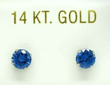 TANZANITE 2.18 Cts STUD EARRINGS 14K  WHITE GOLD * Brand New * Made in USA