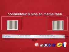 nappe 8 pins câble connecter pc portable universel 15cm largeur 0.9cm /ref:024