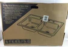 Sterling Double Bowl (4) Hole Sink Mod# Wave80045 Lot 2386