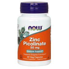 NOW Foods Zinc Picolinate, 50 mg, 60 Veg Capsules
