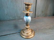 ancien bougeoir laiton porcelaine french antique brocante