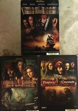 Pirates of the Carribbean Blockbuster Promo DVD Display Cards! 1st 3 Movies Mint