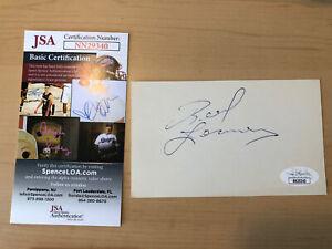 Real Lemieux Signed Autographed 3x5 Index Card Hockey  JSA COA Certificate