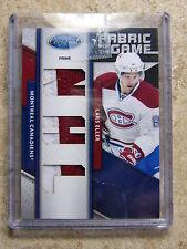 """11-12 Panini Certified Fabric Of The Game #79 Prime """"NHL"""" LARS ELLER /10"""