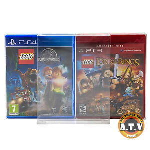 Game Box Cases /  Protectors / For Playstation PS4 / PS3 Games (Snug Fit)