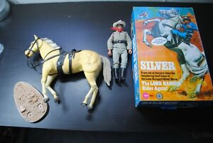 "THE LONE RANGER RIDES AGAIN "" THE LONE RANGER + SILVER   ""    NICE PLAYSET /BOX"