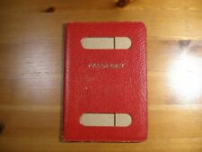 Vintage Passport Cover Holder For OLD British UK Passport In Soft RED Leather