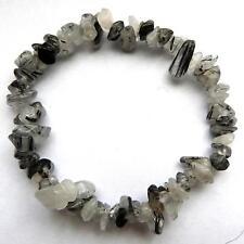 ** BELLISSIMO tourmalinated Quartz Crystal Chip Bracciale-Healing / reiki **