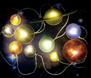 Battery Powered Children's 2metre Space String Lights Solar System Planets, Mars