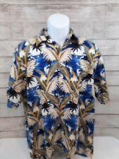 Munsingwear Hawaiian Style Shirt Medium Boats Aloha Vacation Summer Cruise