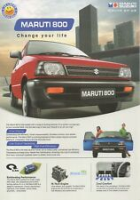 Maruti Suzuki 800 car (made in India) _2010 Prospekt / Brochure