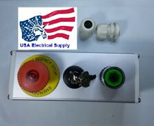 Green, Momentary Mushroom Self Lock Push Button Key Switch Station Light 12-24V