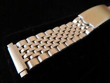 """Minty TRADITION 'Beads of Rice' Silver-tone Watch Band, 6.25"""" long, fits 16-20mm"""