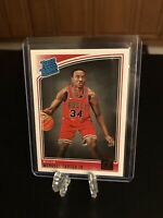 2018-19 Panini Donruss Wendell Carter Jr. Base Rated Rookie Chicago Bulls #170🔥