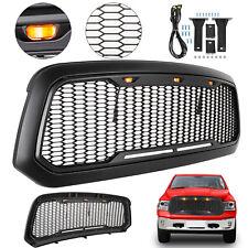 For Dodge Ram 1500 2013-2018 Mesh Grille W/ LED Light Raptor Style Front Hood