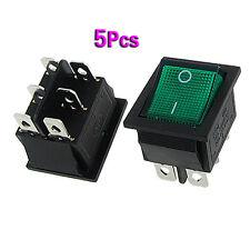ET 5x AC 16A/250V 20A/125V gruenem Licht beleuchtet SPDT ON/ON Boot Kippschalter
