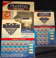 Plus White Polisher Diamond Bright with 9 polish heads New+Refill Kit