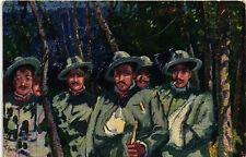 WW1 WWI Propaganda - T. Cascella - Croce Rossa Italiana, Bersaglieri - PV802