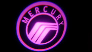 2PC PINK MERCURY 5W LED EMBLEM DOOR PROJECTOR GHOST SHADOW PUDDLE LOGO LIGHT