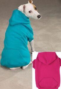 BLUEBIRD/RASPBERRY BASIC COTTON DOG HOODIE SWEATSHIRT