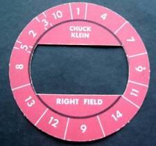 Cadaco All-Star Baseball Game Disk Red Border Chuck Klein Right Field