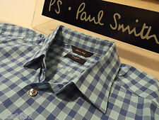 "PAUL SMITH Mens Shirt 🌍 Size 16.5"" (CHEST 44"") 🌎RRP £95+🌏 CRACKING CHECKS"